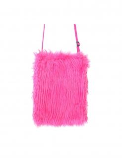 Fell-Tasche Umhängetasche Kostümzubehör Fasching pink