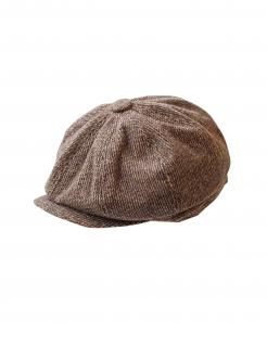 Schiebermütze 20er Jahre-Accessoire Flatcap braun