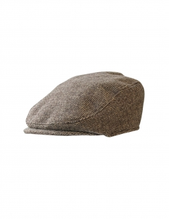 Vintage-Flatcap Schiebermütze Faschingsaccessoire braun