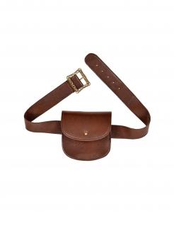 Gürteltasche Cowboy und Mittelalter Faschings-Accessoire braun