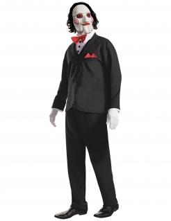 Offizielles Saw™-Kostüm für Herren schwarz-weiß-rot