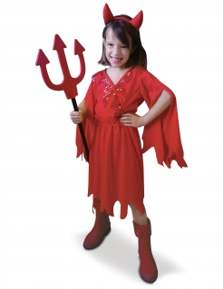 Freches Teufelchen Halloween-Kinderkostüm rot