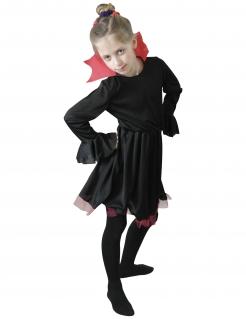 Kleine Vampirin Kostüm für Mädchen Halloweenkostüm schwarz-rot