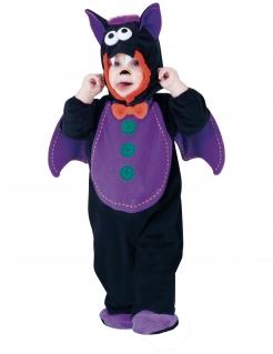 Fledermaus-Kostüm für Babys Halloweenkostüm schwarz-violett