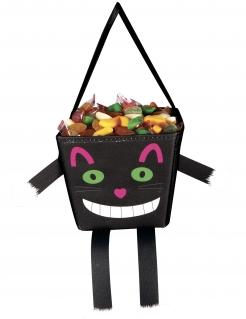 Grinsekatze-Kindertasche Happy Halloween bunt 17 cm