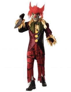 Verrückter Killerclown Halloween-Kostüm für Herren bunt
