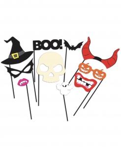 Halloween-Foto-Zubehör Party-Animation 10-teilig bunt