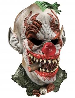 Unheimliche Clown-Maske Horror-Maske Halloween bunt