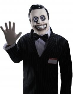 Verkäufer-Horrormaske Halloween-Maske schwarz-weiss