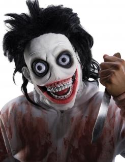 Psycho-Killer-Maske Halloween-Maske schwarz-weiss
