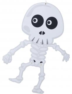 Bewegliche Skelett-Türdekok weiß-schwarz 70 cm