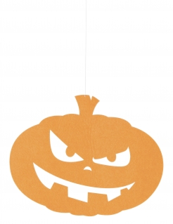 Kürbis-Hängedeko lachender Kürbis Halloween-Deko orange