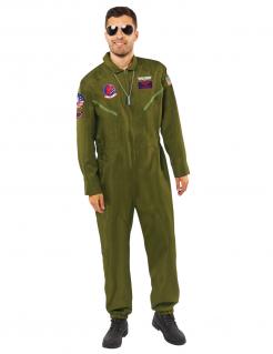 Offizielles Top Gun™-Kostüm für Erwachsene dunkelgrün