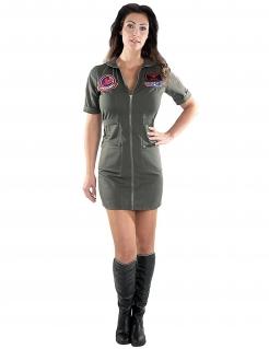Offizielles Top Gun™-Kleid für Damen Kultkostüm grün