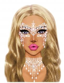 Glitzersteine für Gesicht Make-up Festival weiss