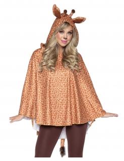Wilde Giraffen-Tunika für Damen Kostüm-Accessoire braun