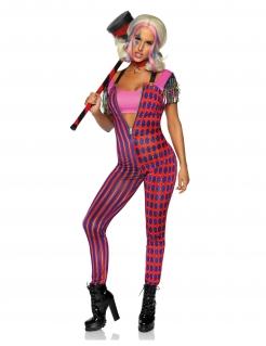 Sexy Superheldin-Kostüm lila-rot