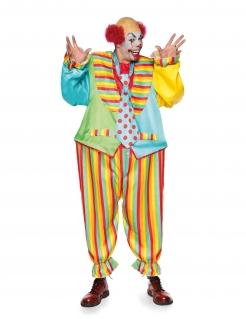 Breites Clown-Kostüm für Erwachsene bunt