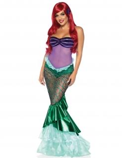 Meerjungfrau-Kostüm für Damen Faschingskostüm lila-türkis