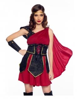 Sexy Gladiatorin-Kostüm für Damen Faschingskostüm rot-schwarz