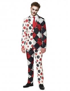 Vintage Horrorclown-Kostüm für Herren Suitmeister™ schwarz-weiß-rot