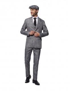 Offizielles 20er-Jahre Herrenkostüm von Suitmeister™ grau-schwarz
