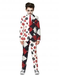 Mr. Clown Vintage Jungenkostüm für Halloween Suitmeister™ schwarz-weiß-rot