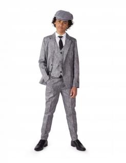 20er Gangsterkostüm für Kinder Suitmeister™ grau-schwarz