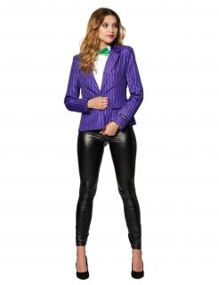 Mrs. Joker™-Jacke für Damen Suitmeister™ Faschingskostüm violett