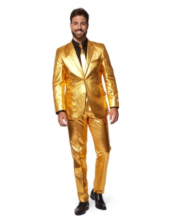 Mr. Groovy Gold-Kostüm für Herren Opposuits™-Kostüm gold