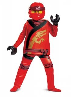 Kai-Kostüm für Kinder Ninjago™ Lego™-Kinderkostüm rot
