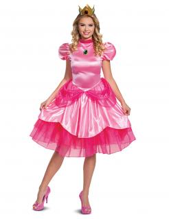 Prinzessin Peach™-Kostüm für Damen Nintendo™ Faschingskostüm pink