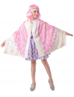 Flamingo-Flügel Engel-Umhang für Kinder rosa