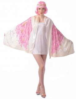 Flamingo-Flügel für Damen Engel-Umhang Faschingskostüm rosa-weiss