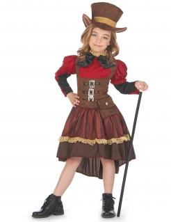 Schickes Steampunk-Kostüm für Mädchen Halloweenkostüm braun-rot