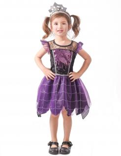Spinnenhexen-Kostüm für Kleinkinder Halloween-Kostüm violett-schwarz