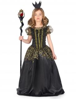 Böse Königin Kostüm für Mädchen Halloweenkostüm schwarz-gold