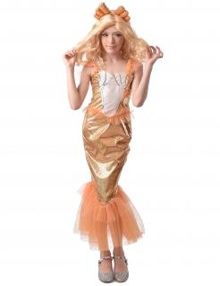 Meerjungfrau-Kostüm für Mädchen Faschingskostüm orange