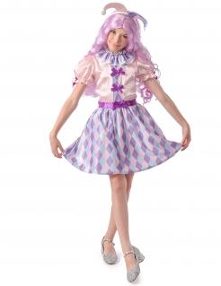Pastellfarbenes Harlekin-Kostüm für Mädchen bunt