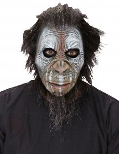 Krieger-Affen-Maske für Erwachsene Halloween-Maske braun-weiss