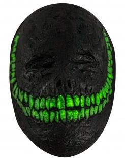 Höllisches Lächeln Maske für Erwachsene Halloweenmaske schwarz-grün