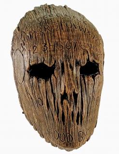 Ouija-Maske im Holzstil Halloween-Maske braun