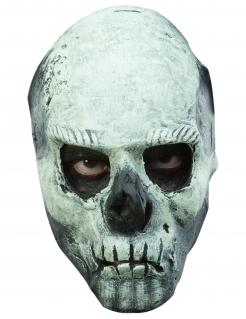 Phosphoreszierende Totenkopf-Maske Halloween-Maske weiss-schwarz