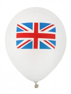 UK-Luftballons Partydeko 8 Stück weiss-blau-rot 23 cm