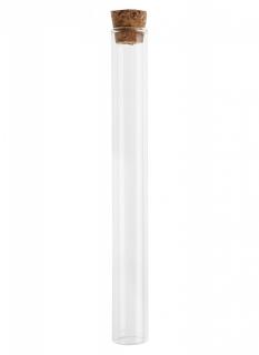 Reagenzglas Deko für Hochzeit oder Taufe transparent-braun 20 cm
