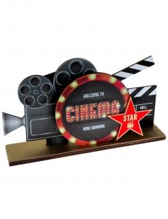 Kino-Deko Tischdeko mit Filmklappe schwarz-rot