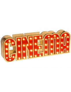 Leuchtendes Schild aus Holz Cinema 30 x 4 x 10 cm