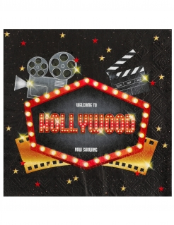 Hollywood-Papierservietten 20 Stück bunt 33 x 33 cm