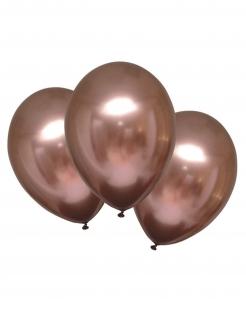Edle Latexballons mit Satineffekt 6 Stück rotgold 28 cm