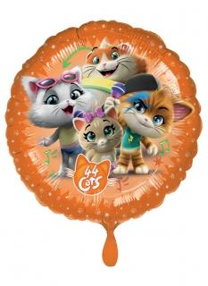 44 Cats™-Luftballon Parytdeko Kindergeburtstag bunt